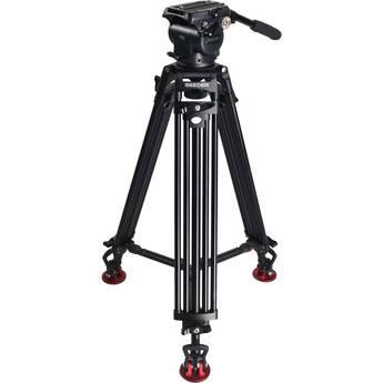 SEEDER T80A2 T80 Fluid Head with Two-Stage AluminumTripod System with Mid-Level Spreader