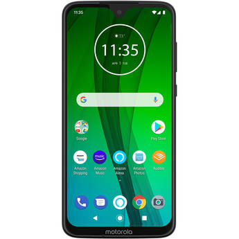 Moto G7 with Alexa 64GB Smartphone (Unlocked, Black)
