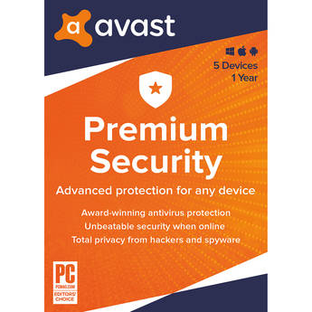 Avast Premium Security 2020 (1-Year Subscription, 5 Devices, Download)