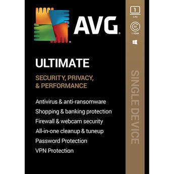 AVG Ultimate 2020 (1-Year Subscription, 1 Windows PC, Download)