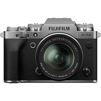 FUJIFILM X-T4 Mirrorless Digital Camera with 18-55mm Lens (Silver)
