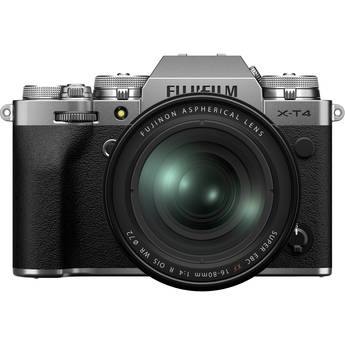 FUJIFILM X-T4 Mirrorless Digital Camera with 16-80mm Lens (Silver)