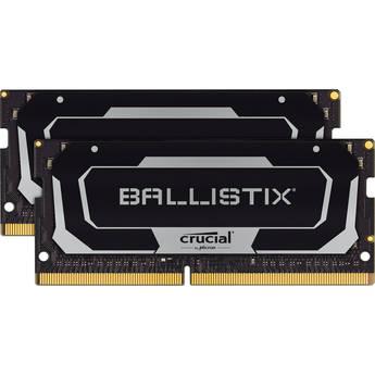 Crucial 32GB Ballistix DDR4 2666 MHz SO-DIMM Gaming Laptop Memory Kit (2 x 16GB)