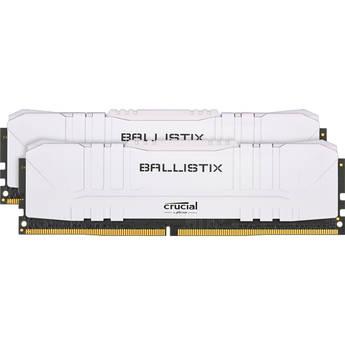 Crucial 32GB Ballistix DDR4 3200 MHz UDIMM Gaming Desktop Memory Kit (2 x 16GB, White)
