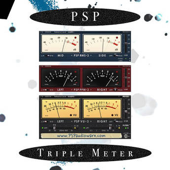 PSPAudioware PSP TripleMeter Metering Plug-In (Download)