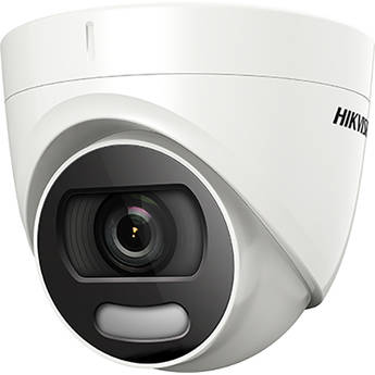 Hikvision DS-2CE72HFT-F28 ColorVu 5MP Outdoor Analog HD Turret Camera with Spotlight & 2.8mm Lens