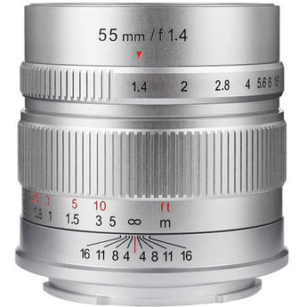 7artisans Photoelectric 55mm f/1.4 Lens for Micro Four Thirds (Silver)