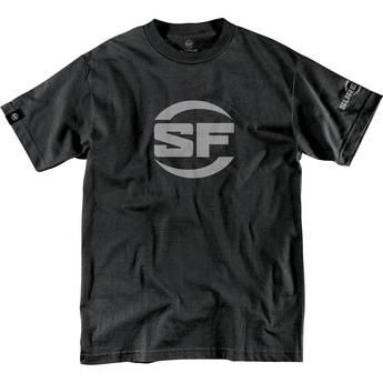SureFire Men's Button Logo T-Shirt (Medium, Black)