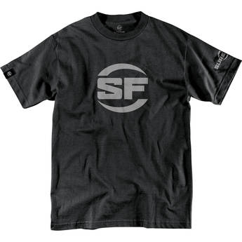 SureFire Men's Button Logo T-Shirt (Extra-Large, Black)