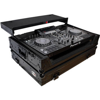 ProX Flight Case with Shelf and Wheels for Pioneer XDJ-RX, RX2 & RX2-W Controllers (Black on Black)