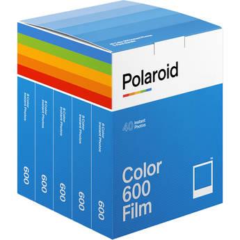 Polaroid Color 600 Instant Film (5-Pack, 40 Exposures)