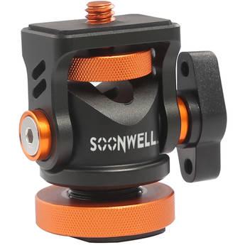"SOONWELL Mini Ball Head Hot Flash Shoe Mount Adapter 1/4"" Screw with Wrench"