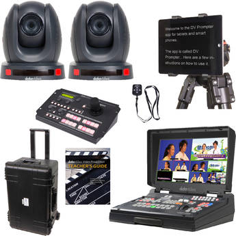 Datavideo EPB-1340 Educator's Production Bundle with PTZ Cameras & Rolling Case