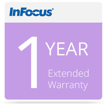 InFocus 1-Year Extended Warranty - IN1XX Projectors-E-Delivery