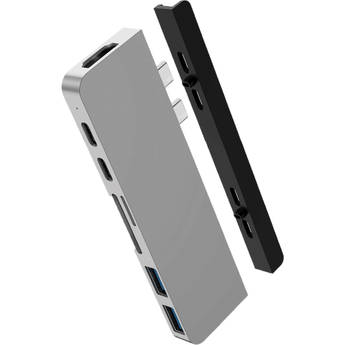 HYPER HyperDrive DUO 7-in-2 USB Type-C Hub for MacBook Pro and MacBook Air (Silver)