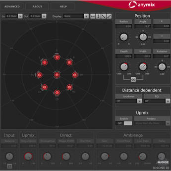 IOSONO Anymix Pro Software Surround Panner and Upmix Plug-In (Download)