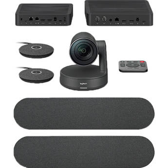 Logitech Rally Plus UHD 4K Conference Camera System with Dual-Speakers and Mic Pods Set