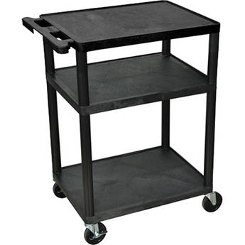 "Advance PL2-34 PixMate Lightweight Plastic Cart - 18"" x 24"" Shelf - 34"" Height"