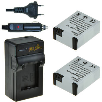 Jupio 2 x Lithium-Ion Battery Packs for GoPro HERO3/HERO3+ & Compact Single Charger