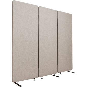 Luxor Reclaim Acoustic Room Divider Panel (3-Pack, Misty Gray)