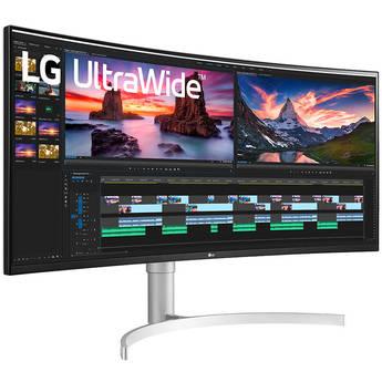 """LG 38WN95C-W 38"""" 21:9 UltraWide G-Sync/FreeSync QHD+ Curved IPS Monitor"""