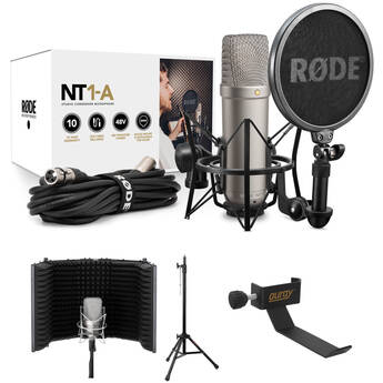 Rode NT1-A Large-Diaphragm Studio Vocal Microphone Kit with Reflection Filter