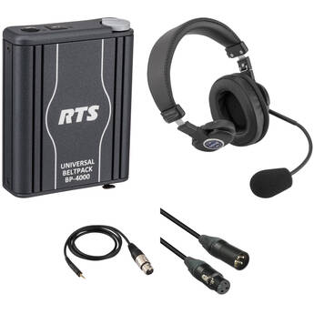 Telex BP4000A4M Single-Channel Portable Beltpack Communications Kit with Single-Sided Headset