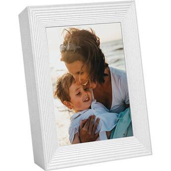 """Aura Frames 9"""" Mason Digital Photo Frame (White Quartz)"""