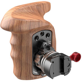 SmallRig Wooden Handgrip with NATO Clamp (Right Hand)