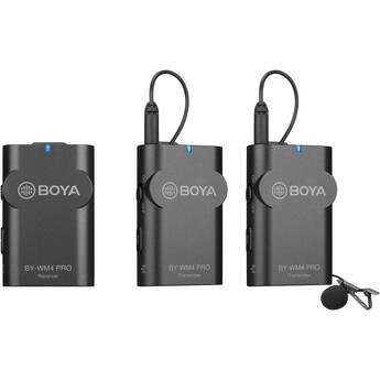 BOYA BY-WM4 PRO-K2 Two-Person Digital Camera-Mount Wireless Omni Lavalier Microphone System (2.4 GHz)