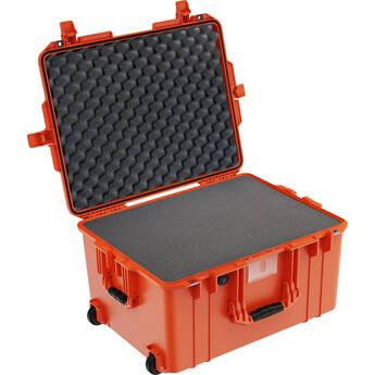 Pelican 1607 Air Case with Label and Foam (Orange)