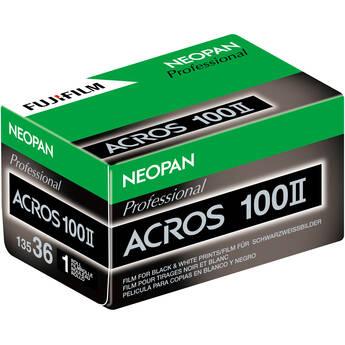 FUJIFILM Neopan 100 Acros II Black and White Negative Film (35mm Roll Film, 36 Exposures)