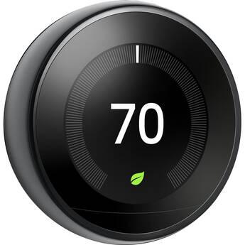Google Nest Learning Thermostat (3rd Generation, Mirror Black)