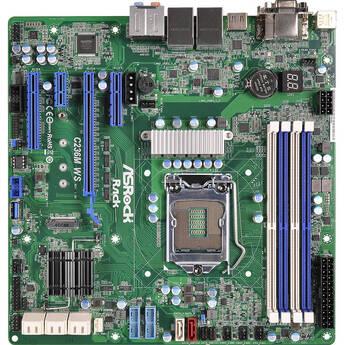 ASRock C236M WS S1151 H4 Xeon E3-1200v5 C236 DDR4 8xSATA PCIE HDMI VGA Micro-ATX Motherboard