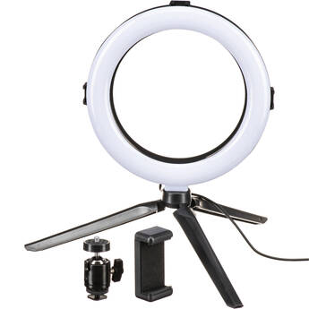 """On Air Halo Light 8"""" LED Ring Light with Tripod Stand & Smartphone Mount"""
