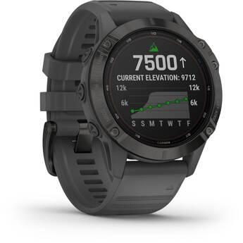 Garmin fenix 6 Multisport GPS Smartwatch (47mm, Solar, Black / Slate Gray Band)
