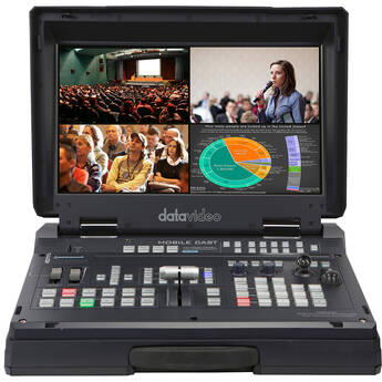 Datavideo HS-1600T Mark II 4-Channel HD/SD/HDBaseT Portable Video Streaming Studio