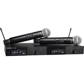 Shure SLXD24D/SM58 Dual-Channel Digital Wireless Handheld Microphone System with SM58 Capsules (G58: 470 to 514 MHz)