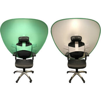 Gig Gear Cam-A-Lot Video Conferencing Background Privacy Screen (White/Green)