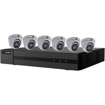 Hikvision 8-Channel DVR with 2TB HDD & Six 2MP Outdoor HD-TVI Turret Camera with Night Vision & 2.8mm Lens