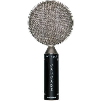 Cascade Microphones FAT HEAD Ribbon Microphone (Black Body and Silver Grill, Stock Transformer)
