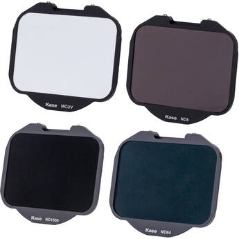 Kase 4-In-1 UV & ND Clip-In Filter Set for Sony Alpha Cameras (MCUV/ND8/ND64/ND1000)