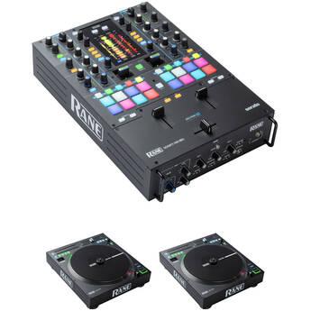 RANE DJ Digital DJ Kit with SEVENTY-TWO MKII Mixer and Pair of TWELVE MKII Motorized Vinyl Controllers