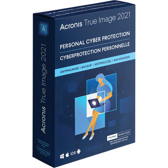 Acronis True Image 2021 (1 Windows or Mac License, 1-Year Subscription, Download, Advanced Edition)