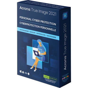 Acronis True Image 2021 (3 Windows or Mac Licenses, 1-Year Subscription, Download, Advanced Edition)