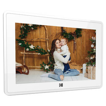 """Kodak 10"""" Digital Picture Frame with Wi-Fi and Multi-Touch Display (Matte White)"""