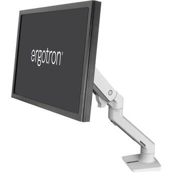 Ergotron HX Desk Monitor Arm for Displays up to 42 lb (White)