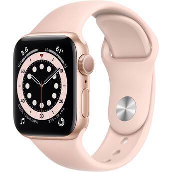 Apple Watch Series 6 (GPS, 40mm, Gold Aluminum, Pink Sand Sport Band)