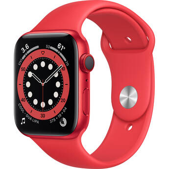 Apple Watch Series 6 (GPS + Cellular, 44mm, PRODUCT(RED) Aluminum, PRODUCT(RED) Sport Band)