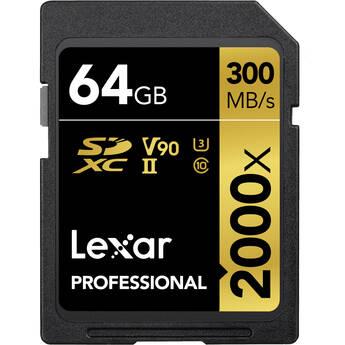 Lexar 64GB Professional 2000x UHS-II SDXC Memory Card